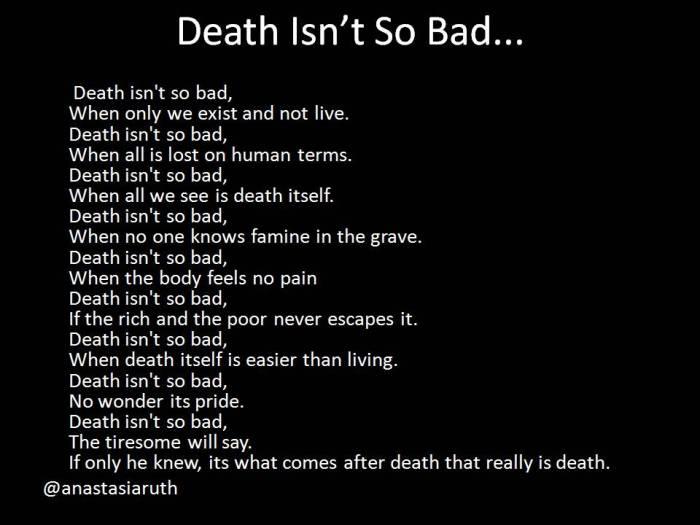 Death Isn't So Bad